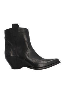 Maison Margiela - Covered heels texano boots in black