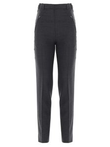 Maison Margiela - Pied de poule wool pants in grey