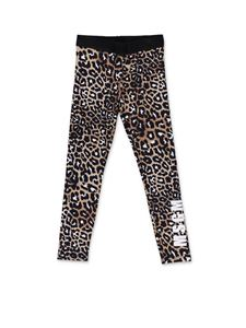MSGM - Leggings animalier con logo