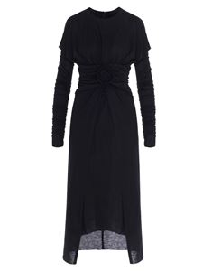 Dolce & Gabbana - Draped dress with rose in black