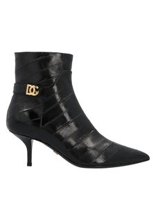 Dolce & Gabbana - Cardinale logo ankle boots in black