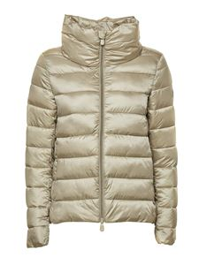 Save the duck - Satin effect puffer jacket in beige