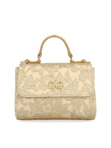 Dolce & Gabbana Jr - Borsa Sicily Christmas mini DG color oro