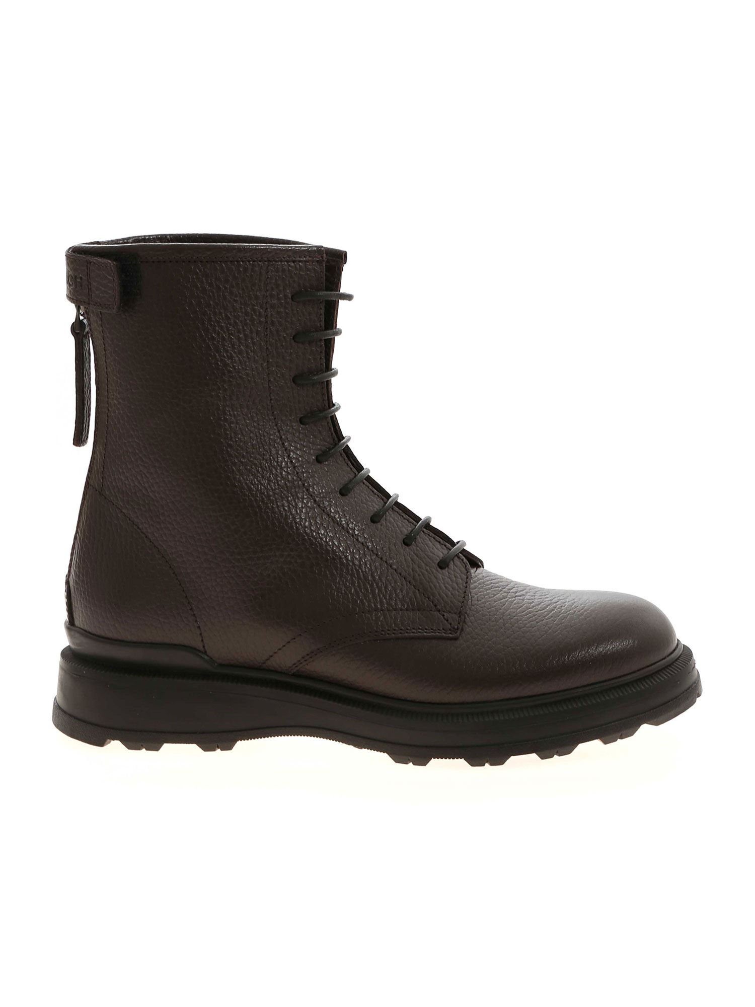 Woolrich LACE-UP ANKLE BOOTS IN BROWN