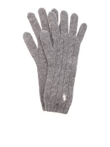 POLO Ralph Lauren - Logo gloves in grey