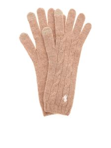 POLO Ralph Lauren - Logo gloves in beige