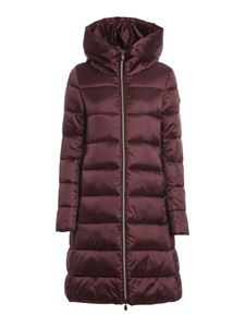 Save the duck - Quilted padded jacket in burgundy