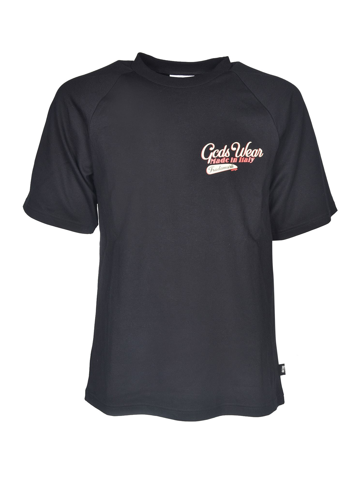 Gcds SANFORIZED T-SHIRTS IN BLACK