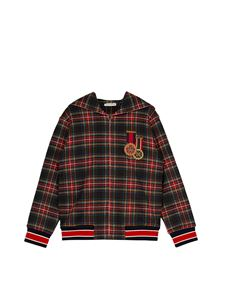 Dolce & Gabbana Jr - Hooded sweatshirt with zip in tartan