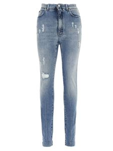 Dolce & Gabbana - Audrey patch jeans in light blue