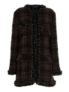 Dolce & Gabbana - Checked tweed jacket in brown