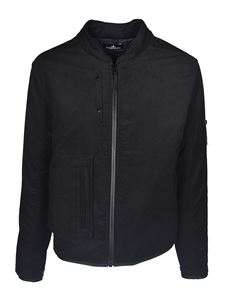 Stone Island - Cotton puffed jacket in black