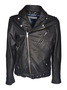 Golden Goose - Leather jacket in black