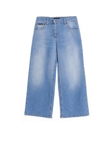 Dolce & Gabbana Jr - Denim culottes in light blue