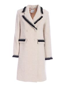 be Blumarine - Double-breasted coat in white