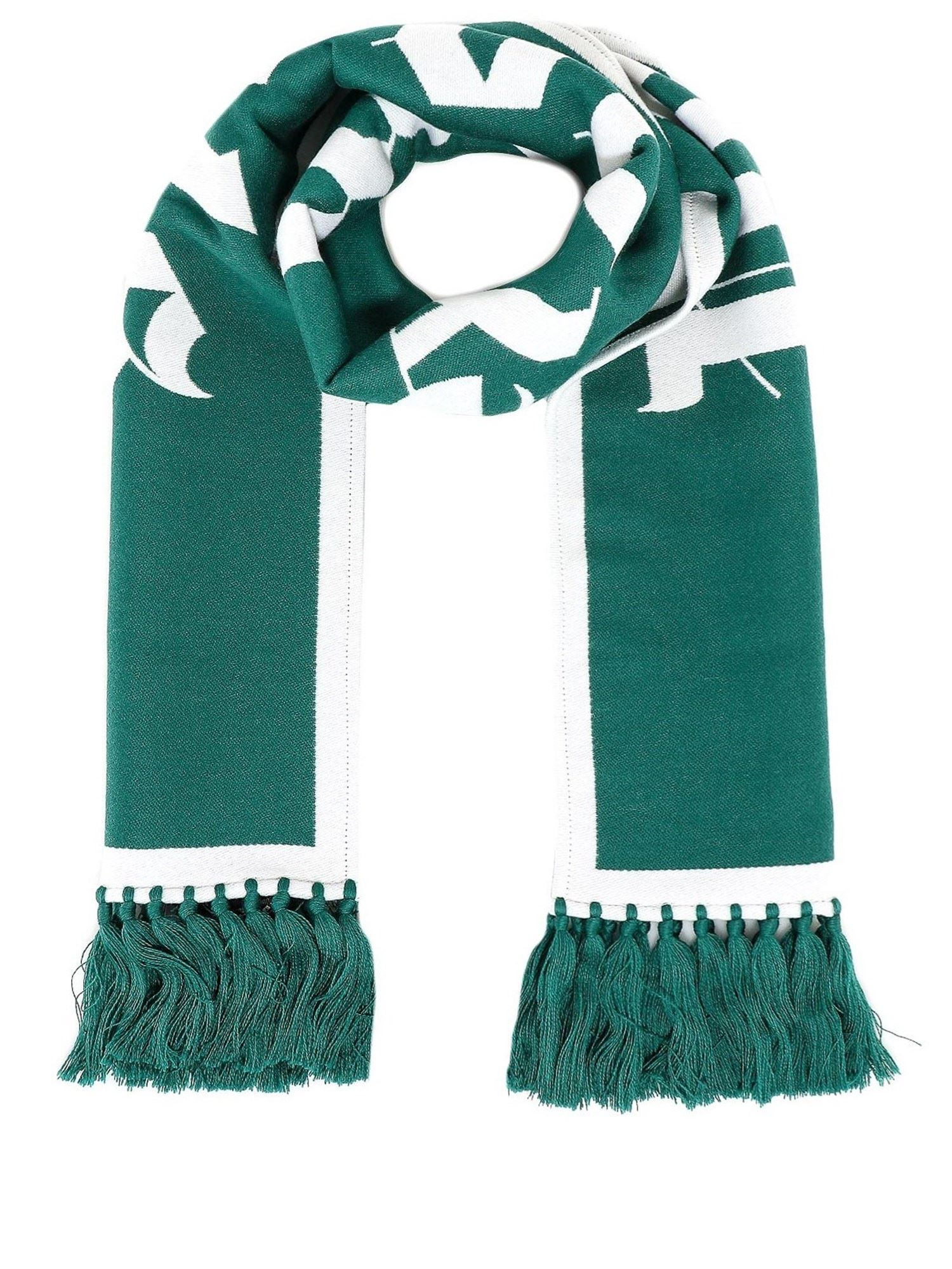 Palm Angels WOOL-COTTON BLEND SCARF