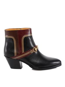 Gucci - Morsetto hammered leather ankle boots
