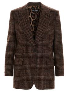 Dolce & Gabbana - Checked blazer in brown