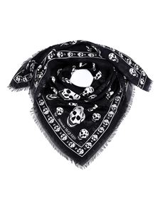 Alexander McQueen - Foulard con stampa teschi