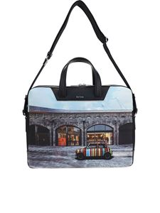 Paul Smith - Borsa da computer con stampa auto
