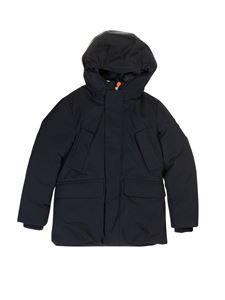 Save the duck - Hooded jacket in blue