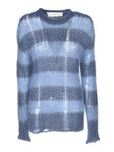 Golden Goose - Striped pullover in light blue and blue