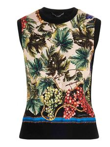 Dolce & Gabbana - Grape print sleeveless top