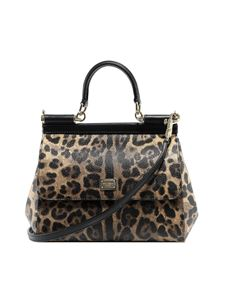 Dolce & Gabbana - Sicily leaopard printed small bag