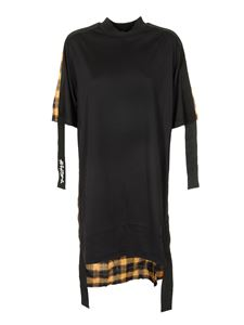 Palm Angels - Check Dual dress in black yellow