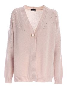 Ermanno by Ermanno Scervino - Beads and rhinestone cardigan in beige