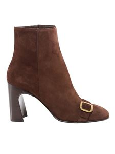 Tod's - Buckle strap suede boots