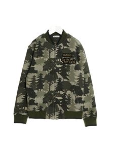 Dolce & Gabbana Jr - Forest print zip sweatshirt in green