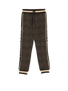 Dolce & Gabbana Jr - Checked jogging pants in brown
