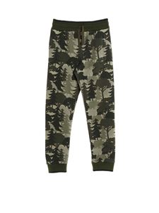 Dolce & Gabbana Jr - Forest print jogging pants in green