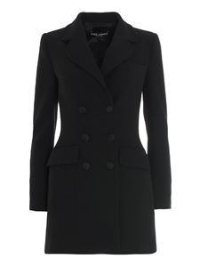 Dolce & Gabbana - Long double-breasted jacket in black