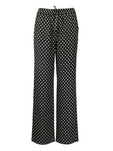Michael Kors - Polka dots viscose trousers
