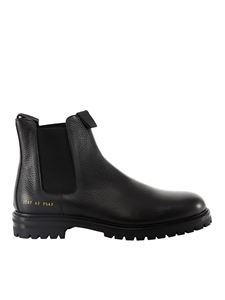 Common Projects - Grainy leather Chelsea boots