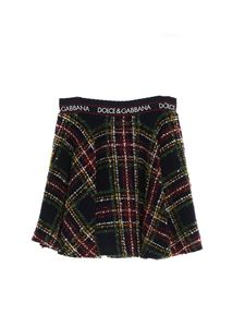 Dolce & Gabbana Jr - Gonna corta a ruota in tartan