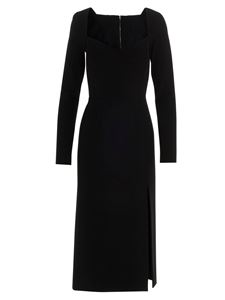 Dolce & Gabbana - Stretch split dress in black