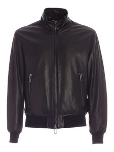 Emporio Armani - Leather jacket in black