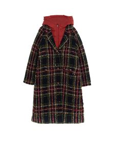 Dolce & Gabbana Jr - Tartan coat with inner down jacket