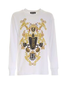 Versace Jeans Couture - Contrasting print T-shirt in white