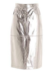 MSGM - Laminated skirt in silver