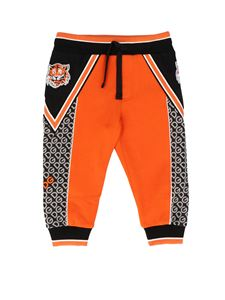 Dolce & Gabbana Jr - DG Tigre pants in orange