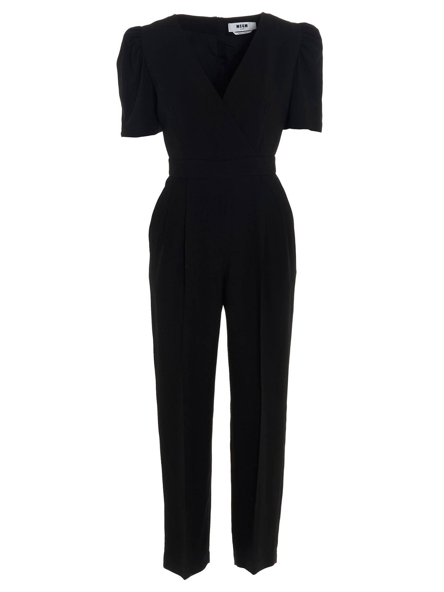 Msgm PUFF SLEEVES CADY JUMPSUITS