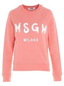MSGM - Brushed logo sweatshirt in pink