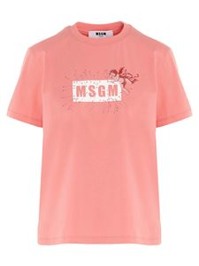 MSGM - Cupid Logo T-shirt in pink