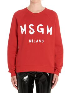 MSGM - Brushed Logo sweatshirt in red