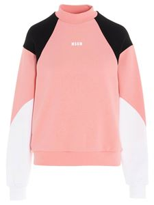 MSGM - Color block logo sweatshirt in pink