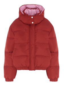 MSGM - Bicolor puffer jacket in red